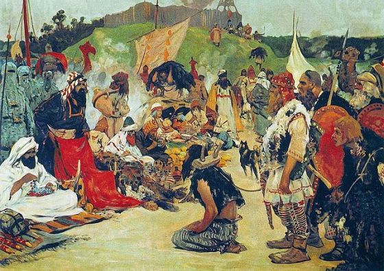 handel niewolnikami  Sergei Ivanov 1913