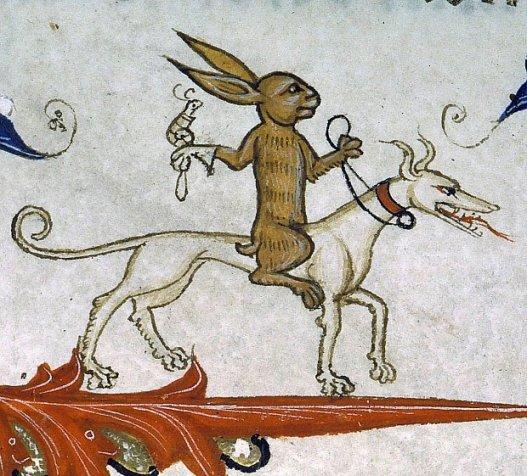zajac-z-tresowanym-slimakiem-ujezdza-psa-pontyfikal-guillaumea-duranda-z-awinionu-przed-rokiem-1390