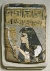 Egipska kobieta trzymającą tzw. sistrum (grzechotkę), 1250-1200 r.p.n.e.