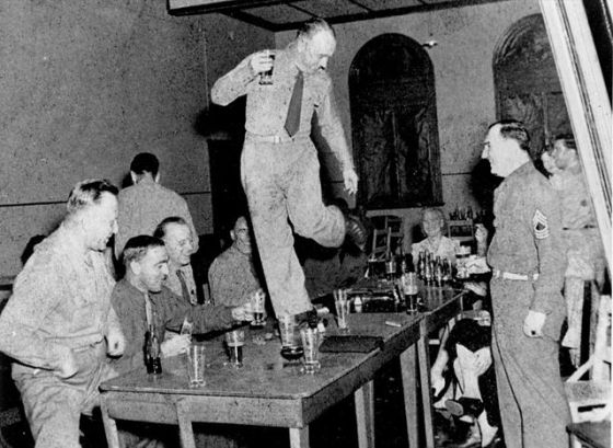 American_soldier_dancing_on_a_table,_Eagle_Farm,_Brisbane,_Queensland_during_World_War_Two_(4924975043)