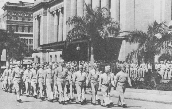 Ok. 1943 r., Amerykańscy żołnierze w Brisbane. Fot. Brisbane City Council