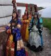 Tuwińskie kobiety w tradycyjnymstroju
